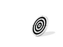 черная цель Стоковое фото RF