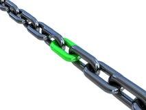 черная цепь 3d Стоковые Изображения RF