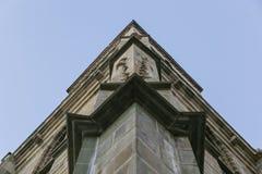 черная церковь Румыния brasov детали Стоковые Изображения