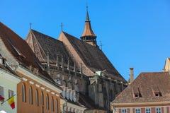 черная церковь Румыния brasov детали Стоковые Изображения RF