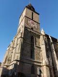 черная церковь Румыния brasov стоковое изображение