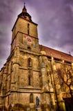 черная церковь стоковая фотография rf
