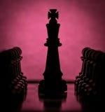 черная часть короля поля глубины шахмат отмелая Стоковые Изображения RF