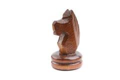 Черная часть лошади шахмат самостоятельно изолированная на белизне Стоковое Изображение