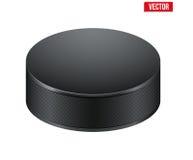 Черная шайба хоккея также вектор иллюстрации притяжки corel Стоковое фото RF