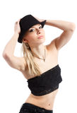 черная шляпа Стоковое Изображение
