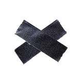 Черная штейновая лента ткани Стоковые Фото