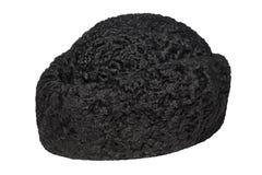 Черная шляпа caracul Стоковые Изображения