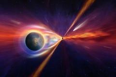 Черная дыра в глубоком космосе Стоковая Фотография RF