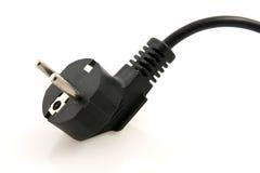 черная электрическая штепсельная вилка Стоковые Изображения