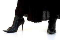 черная юбка ботинок Стоковые Изображения