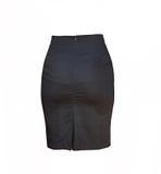 Черная юбка на белой предпосылке Стоковое Изображение RF