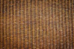 черная древесина текстуры ротанга Стоковая Фотография