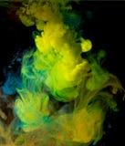 Чернила в воде, абстракции цвета, взрыве цвета Стоковые Изображения