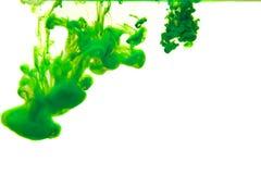 Чернила в воде, абстракции цвета, взрыве цвета Стоковые Фото