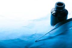 чернила пера бутылки Стоковые Фото