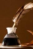 чернила пера бутылки Стоковое Фото