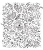 Чернила установили декоративных австралийских животных также вектор иллюстрации притяжки corel иллюстрация вектора