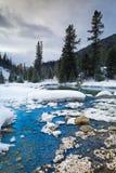 Чернильницы в национальном парке Banff, Альберте стоковые изображения rf
