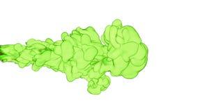 Чернила или дым конца-вверх салатовые с движением маски альфы подводным в замедленном движении Облако VFX чернил для переходов иллюстрация штока