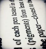 Чернила на бумаге Стоковые Изображения