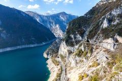 Черногория большие горы горы ландшафта Стоковые Фотографии RF