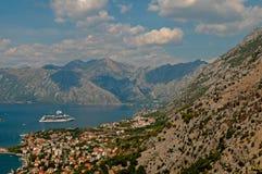 Черногория. Залив Kotor стоковое фото
