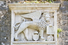 Черногория - старый средневековый среднеземноморской городок Kotor Стоковые Фотографии RF
