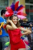 Черногория, Herceg Novi - 6 06 2015: Девушка от танцевального клуба Diano Стоковые Изображения