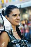 Черногория, Herceg Novi - 04/06/2016: Женщина в ратнике звезды причудливого платья Стоковые Изображения