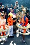 Черногория, Kotor - 03/13/2016: Костюмы carousel Стоковые Изображения RF