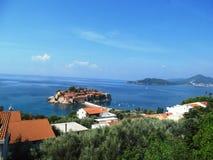 Черногори, sveti stefan Стоковое Изображение RF