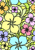 черное безшовное картины цветков красное Стоковое Фото