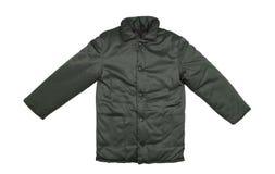 Черное вид спереди куртки стоковая фотография