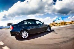 черное движение автомобиля Стоковое фото RF