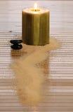 черное Дзэн камня свечки Стоковые Изображения RF