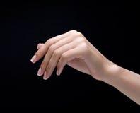 черное женское запястье руки Стоковое Изображение RF