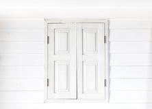черное закрытое изолированное белое окно Стоковые Фото