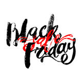 Черное знамя литерности руки продажи пятницы Стоковые Фото