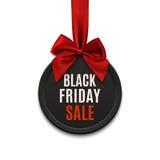 Черное знамя круга продажи пятницы бесплатная иллюстрация