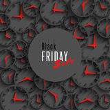 Черное знамя продажи пятницы, предпосылка рогульки предложения курортного сезона, элемент дизайна продвижения модель-макета Стоковое Фото