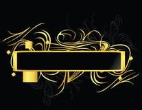 черное золото элемента прямоугольное Стоковая Фотография