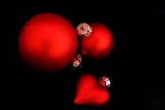 черное изолированное украшение рождества Стоковые Фото