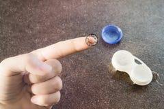 Черное и серое lense контакта стоковая фотография