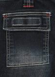 черное карманн джинсовой ткани Стоковая Фотография RF