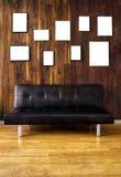 Кресло и рамки Стоковые Фото