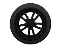 черное колесо Стоковое фото RF