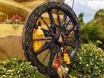 Черное красивое колесо стоковое изображение