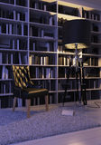 Черное кресло Стоковая Фотография