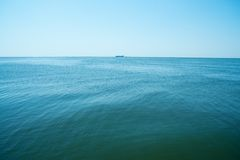 черное море горизонта Стоковые Изображения RF